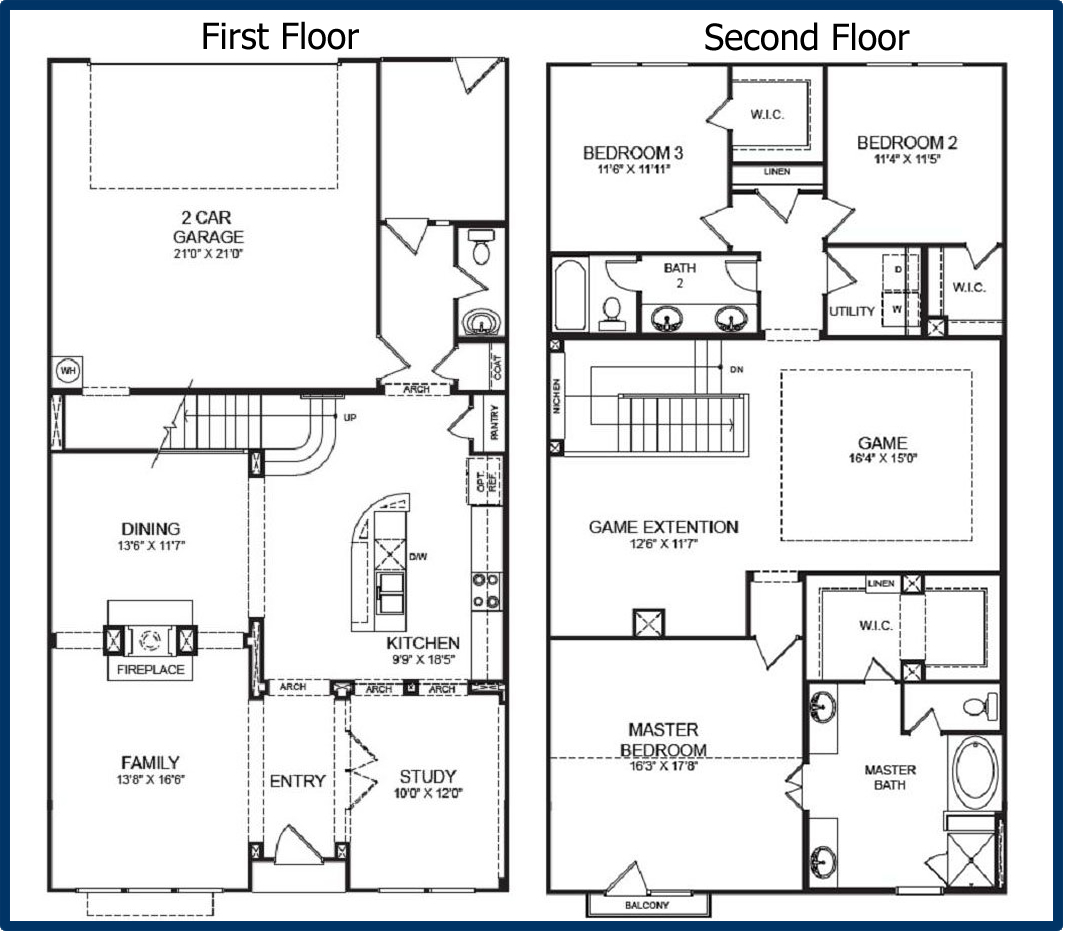 The parkway luxury condominiums for Two story house floor plans free