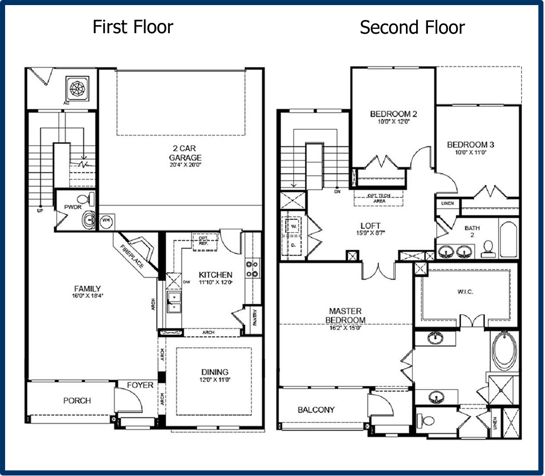 The parkway luxury condominiums Two story house plans with loft