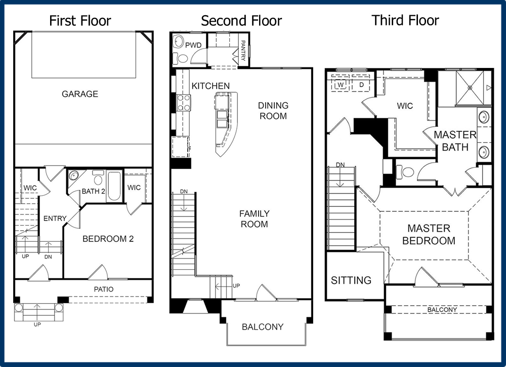The parkway luxury condominiums Single story floor plans with 3 car garage